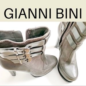 Gianni Bini Gray Platform Boots